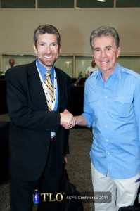 "Core Integrity Group - Eric Feldman with host of ""America's Most Wanted"", John Walsh, at the Association of Certified Fraud Examiner's 2011 Annual Fraud Conference in San Diego."